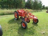 Allis Chalmers G Tractor with single bottom plow