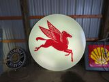 PEGASUS ROUND LIGHTED SIGN