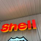 SHELL LETTERS LIGHTED SIGN