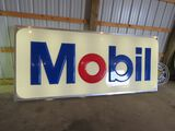 MOBIL LIGHTED SIGN