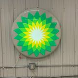 B.P. 3FT ROUND LIGHTED SIGN