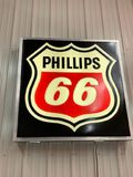 PHILLIPS 66 BLACK LIGHTED SIGN
