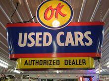 OK Used Car Dealer Sign