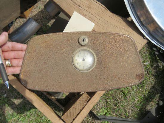 1932 FORD GLOVEBOX DOOR WITH CLOCK