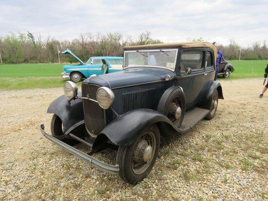 RARE 1932 FORD B400 2DR CONVERTIBLE V8 SEDAN