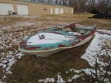 Vintage Finned Boat