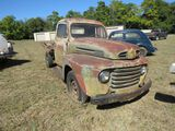 1948 Ford F3 with Flatbed for Project or Parts