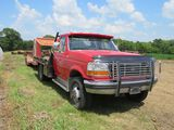 1992 Ford F350 XLT Pickup with Utility Flatbed