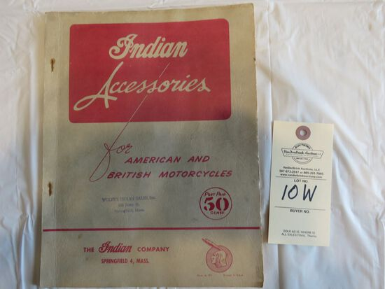 1953 Indian Motorcycles Accessories Catalog