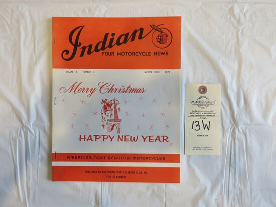 1970 Winter Issue Indian Four Motorcycle News Magazine