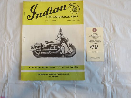 1973 Summer Issue Indian Four Motorcycle News Magazine