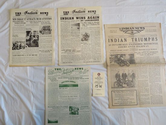 Lot of The Indian News Newspapers from 1934, 1936, & 1938