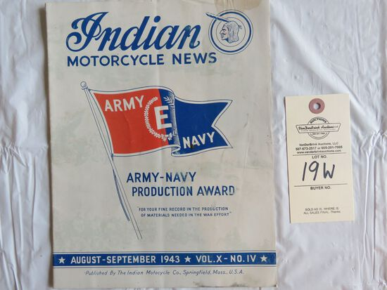 Aug.-Sept. 1943 Indian Motorcycle News Vol.X, No. IV
