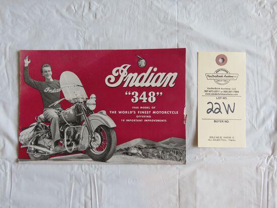 """1948 Indian """"348"""" Brochure"""