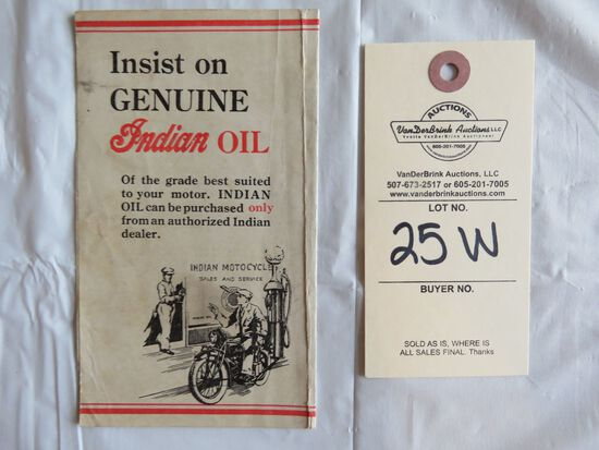 Indian Speed Oil Brochure