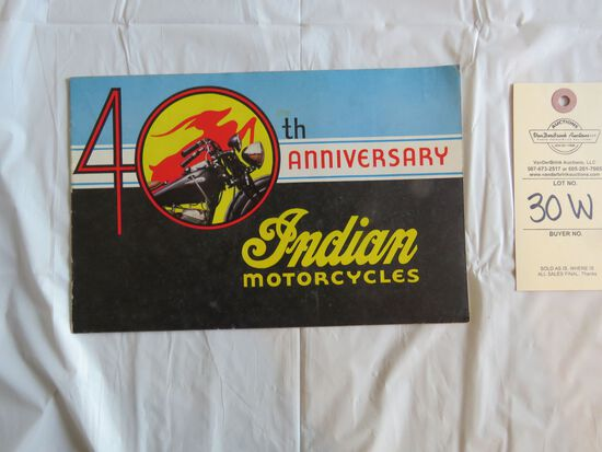 40th Anniversary Indian Motorcycles Brochure