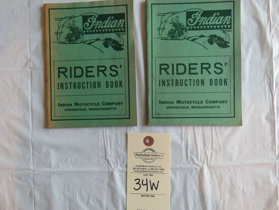 Lot of 2 Indian Motorcycles Riders' Instruction Books