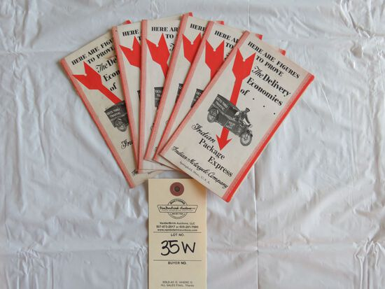 Lot of 6- Indian Package Express Brochures