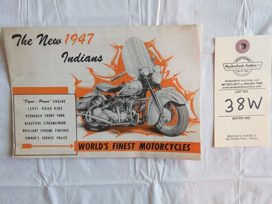 1948 Indian Motorcycles Brochure