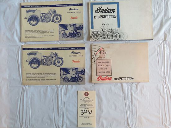 Lot of 4 Indian Motorcycle Dispatch Tow Car Brochures