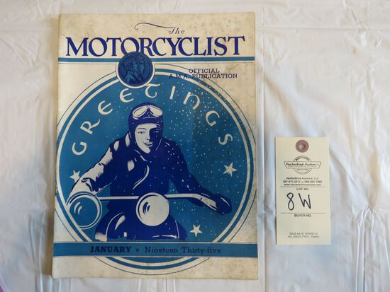January 1935 Motorcyclist Magazine- Indian Motorcycle Ads