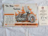 1947 Indian Motorcycles Brochure