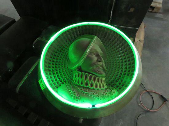 Plaster DeSoto Neon Advertising Plaque 36 inches