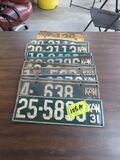Grouping of Kansas 1932 License Plates