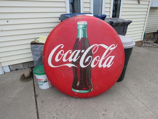 Antique Coca Cola Button Sign