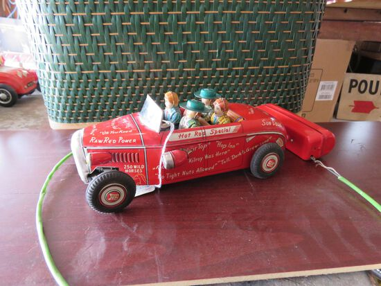 Tin Marx Line Battery Operated Toy Hotrod