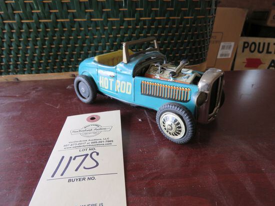 Vintage tin Hot rod Friction Toy