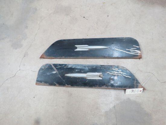 Pair of Oldsmobile Rocket 88 Fender Skirts
