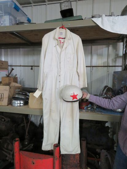 Vintage Racing Suit and helmet