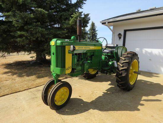 1957 John Deere 420 Tractor