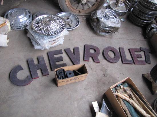 Original Chevrolet Letters
