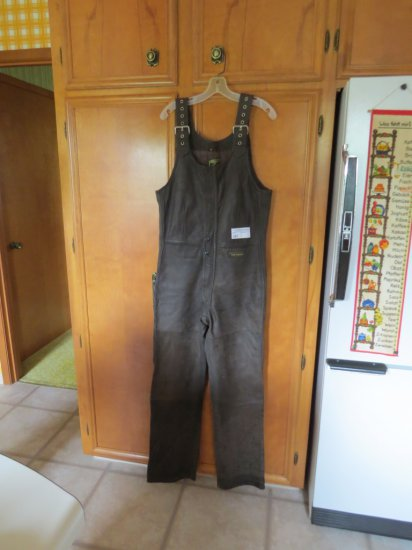 Vintage Leather riding overalls