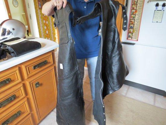 Vintage Leather Riding Chaps