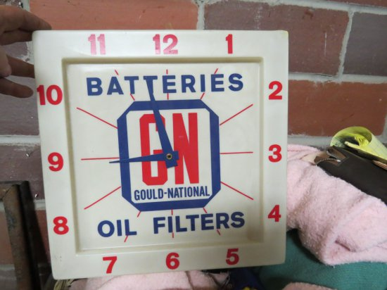 Gould-National Oil filters Clock