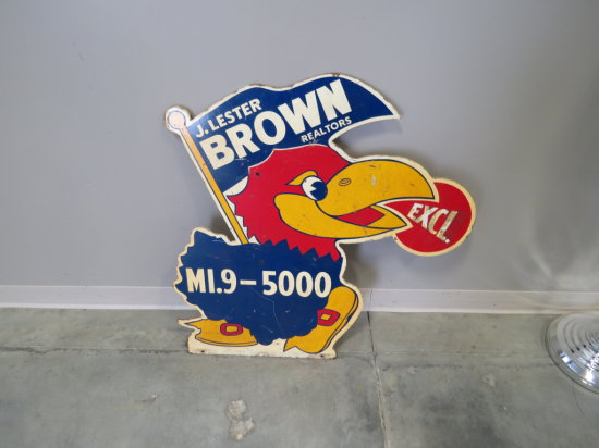 IOWA STATE CYCLONE BROWN REAL ESTATE SIGN