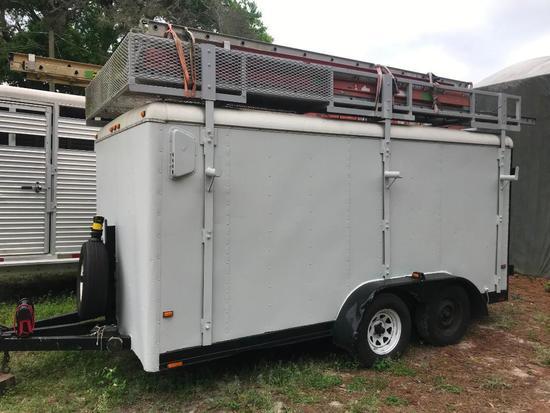 2010 Dual Axle Enclosed Equipment Trailer