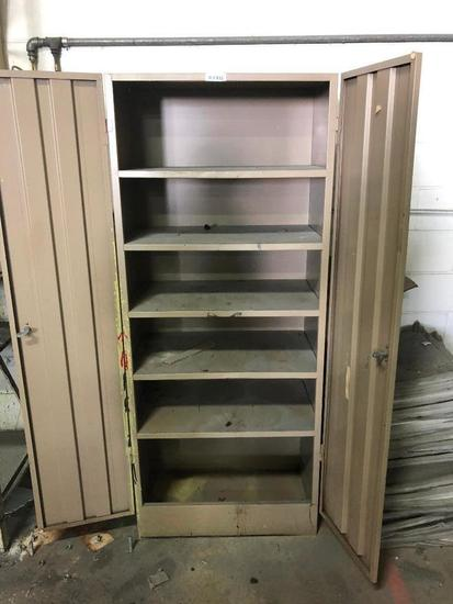 Cabinet & Contents (Paint, Painting Equipment, etc.)