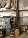 Red Fiberglass 21' Extension Ladder