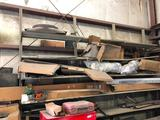 Lot of Misc. Shelving, Contents, & Picking Rights to remaining wall