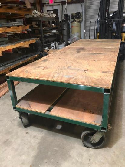 Large Metal Rolling Cart