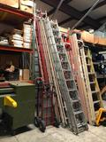 L Fiberglass Extension Ladder