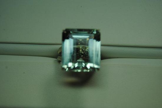 Aquamarine fashion ring.