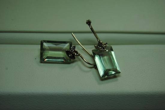 Aquamarine earrings.