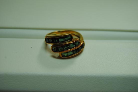 Green Tourmaline fashion ring.