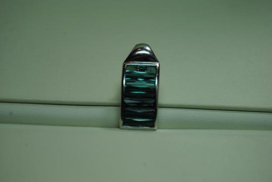 Art Deco style Tourmaline pendant.