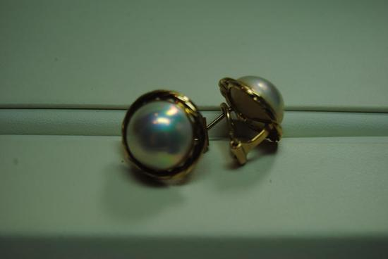 Mabe Pearl earrings.